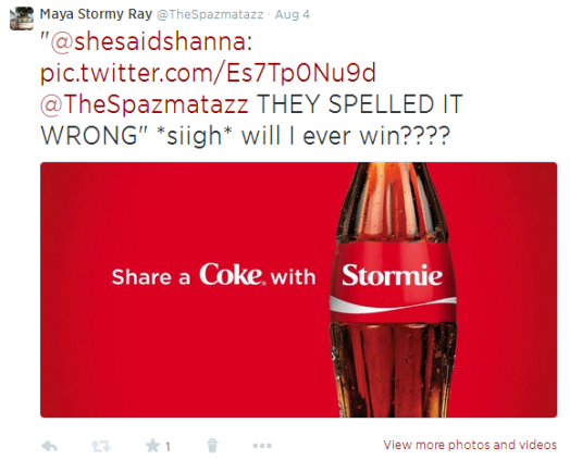 Share A Coke With Stormie