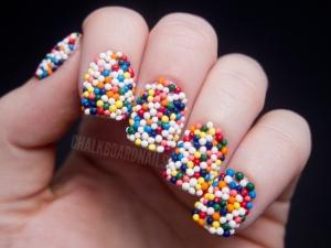 sprinkles on nails