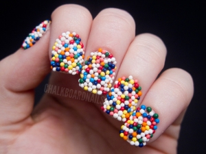 sprinkles on nails