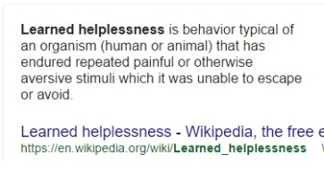 learned hopelessness