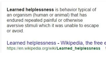 learned hopelessness